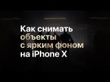 Как снимать объекты с ярким фоном на iPhone X