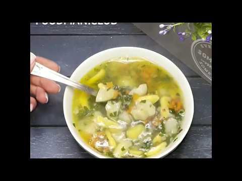 Гречневый суп с галушками без мяса