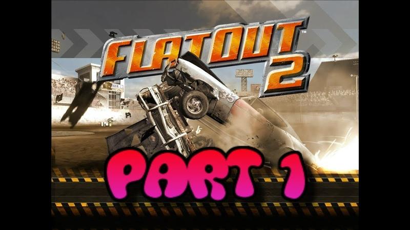 FlatOut 2 (PC) Walkthrough Part 1 Derby Initiation Cup [No Commentary] (720 HD)