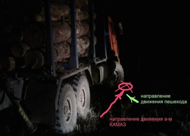КАМАЗ наехал на 56-летнюю пенсионерку 01.09.2018