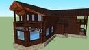 Дом-Титаник с бассейном Д-1400 дом титаник деревянный строительство дача проект ростерн