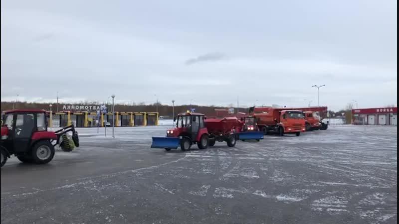 Осмотр снегоуборочной техники (2)