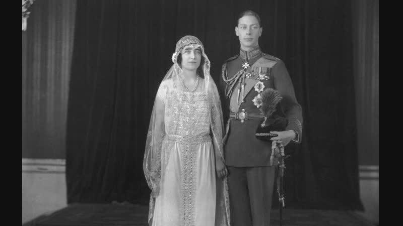 Свадьба короля Великобритании Георга VI и леди Елизаветы Боуз-Лайон, 26 апреля 1923 г.
