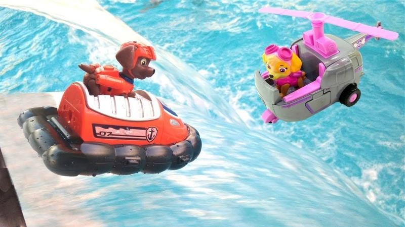 Paw Patrol oyuncakları Zumayı kurtarıyor. Paw Patrol oyunu.