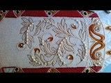 Ornament. Embroidery beads , artificial pearls and rhinestones.
