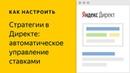 Автоматические стратегии. Видео о настройке контекстной рекламы в Яндекс.Директе