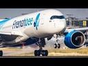 AIRBUS A350 vs BOEING 787 AIRSHOW edition DEPARTURE LANDING 4K