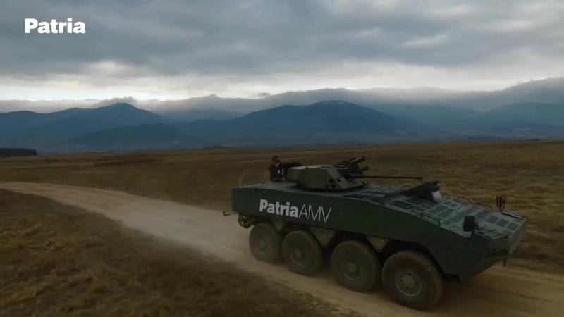 Демонстрация PATRIA AMV 8x8 в Болгарии