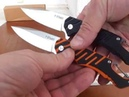 Y-START LK5020 woodpecker, Black Orange, flipper, 440C, G10, Liner Lock, подшипник, EDC
