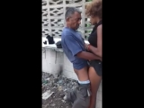 Funny old Man Fucking Hooker Outdoor