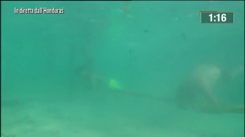 L'Isola dei Famosi. Очередное испытание под водой