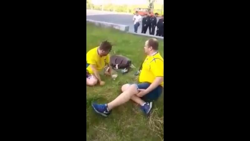 Шведы на следующее утро после первой игры в Нижнем Новгороде )