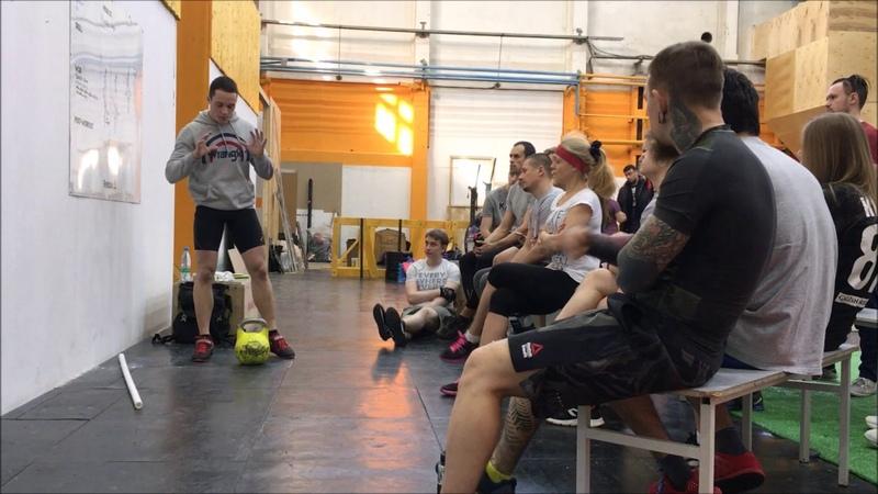 Открытая тренировка по гиревому спорту упражнение рывок