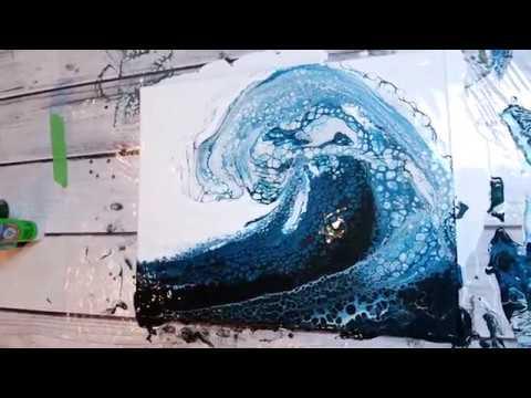 (54) BEST OCEAN WAVE Acrylic Pour EVER