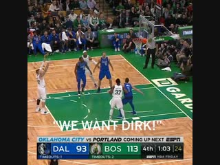 Boston fans showed so much love for dirk 👏