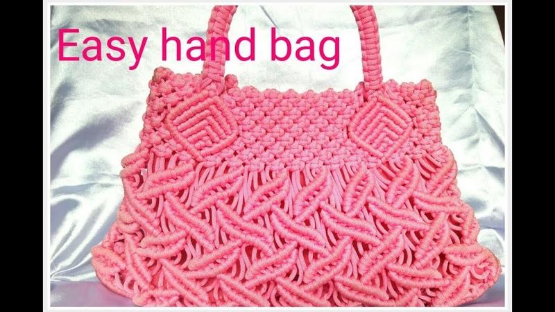 EASY Macrame hand bag tutorial in hindi part _2