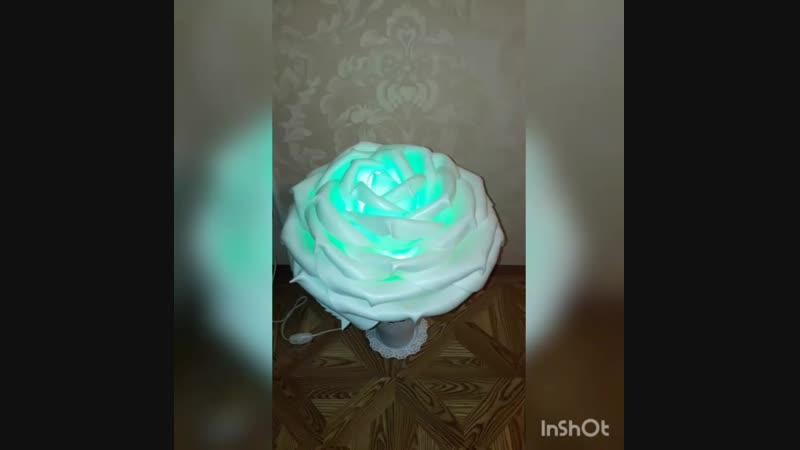Мини роза-светильник с светодиодной лампочкой с 16 цветами и пультом управления на заказ в Брянске 🌹