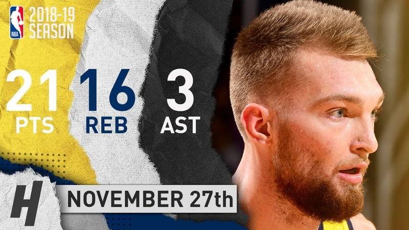 Domantas Sabonis Full Highlights Pacers vs Suns 2018.11.27 - 21 Pts, 3 Ast, 16 Rebounds!