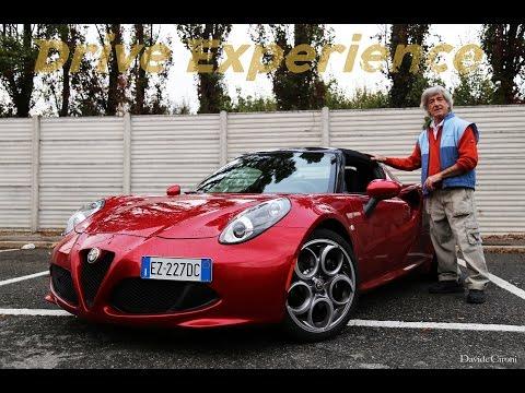 Il collaudatore della 75 prova la 4C Spider - Davide Cironi Drive Experience (ENG.SUBS)