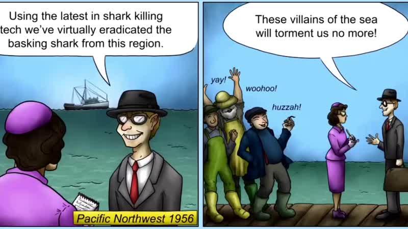 Гигантская акула глазастик съедает океан мультик игра tasty planet forever