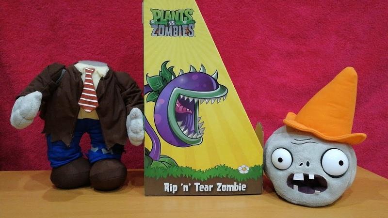 Самая дорогая игрушка Зомби с конусом Растения против Зомби обзор