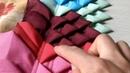 Tapete de retalhos em tecidos, malha e percal (bicos simples)