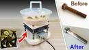 Buratto fai da te CON VENTOLA - Tumbler Machine DIY With FAN, low noise