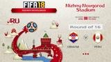 FIFA 18 Чемпионат Мира 1/8 финала Хорватия - Перу Симуляция