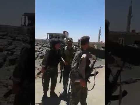Дараа Сирийская армия контролирует деревню Аль-Бустан и деревню Дейр-Дама в районе Аль-Ладжа Ладжат ..