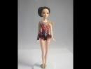 Кукла гимнастка в купальнике копии моей работы