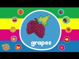 Fruit Names _ Video Flash Cards _ Kindergarten, Preschool, ESL for Kids _ Fun Kids English