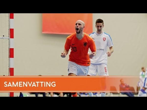 Samenvatting Nederland - Tsjechië (mannen, 02122018)