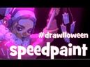 Speedpaint (Paint Tool SAI) Drawlloween Voodoo Druid in a Metropolis