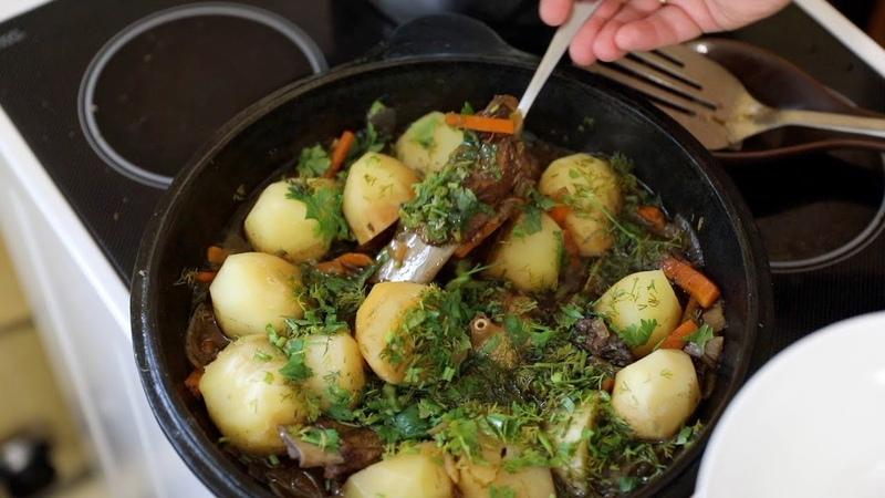 Свиные рёбрышки с картошкой по татарски в казане Как сытно и вкусно накормить голодных мужиков