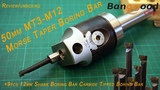 50mm MT3-M12 Morse Taper Boring Bar boring head banggood Unboxing, Review and first test