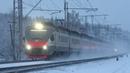 Электропоезд ЭП2Д 0042 ЦППК перегон Латышская Нара 22 12 2018