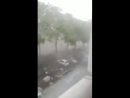 Intense downburst in Paris