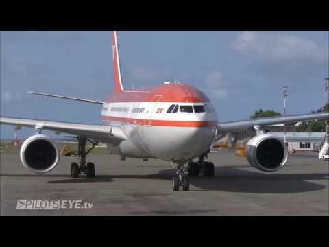 Pilotseye.tv - LTU Airbus A330 Malediven Descent Arrival [English Subtitles]