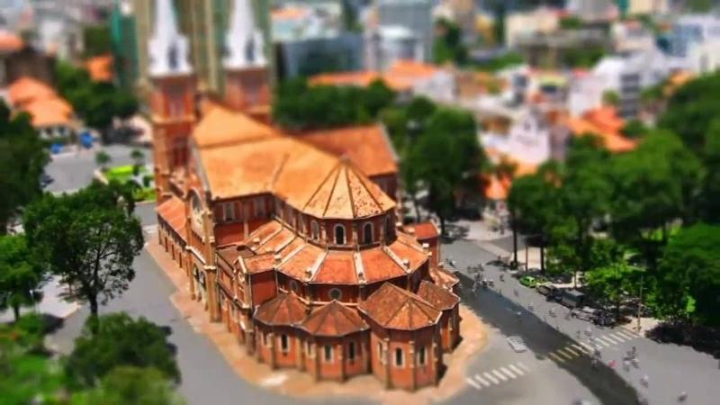 Miniature City HCMC - Time Lapse - Tilt Shift