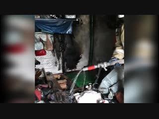 Пожар в одном из гаражей в гаражном кооперативе