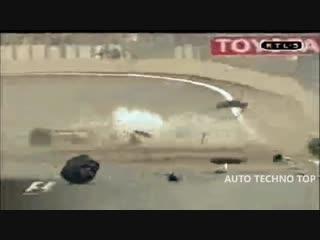 Подборка аварий на гонках, самые жестокие и зрелищные автокатастрофы