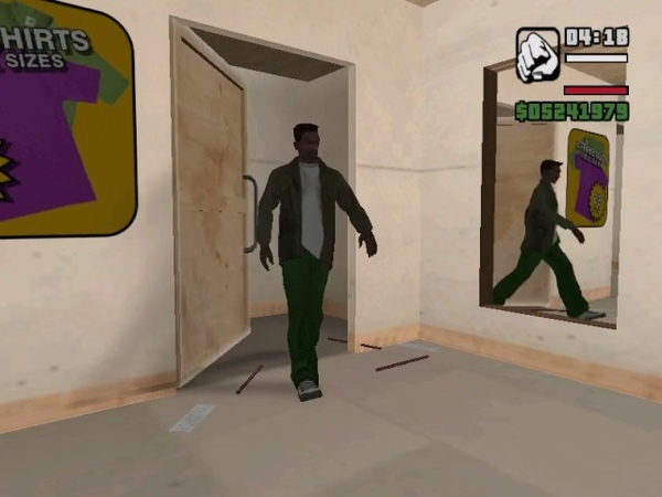 Changing your clothes in Gta San Andreas