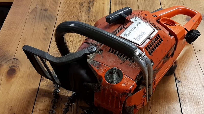 Preparing the chainsaw Husqvarna 359 into the forest and saw chain replacement !