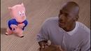 Момент из фильма Космический Джем Баскетбольная площадка