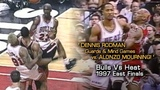 Dennis Rodman's Epic MIND GAMES With Alonzo Mourning! Full Series Hlts Vs Heat (1997 Playoffs)