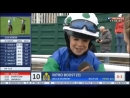 Юный Лукас Мерфи, сын жокея Тимми Мерфи - победитель скачки Shetland Pony Grand National