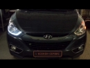 Дневные ходовые огни с бегающим динамическим поворотником на Hyundai IX35