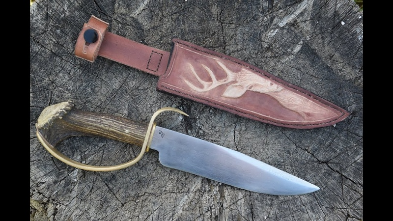 Making Deer Bowie Knife