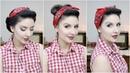 Easy PinUp Hairstyles with Bandana for Long to Medium Hair Length | Nena Moreno
