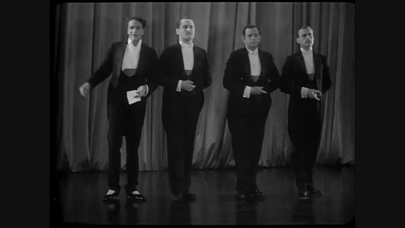 Jack Buchanan with the Glee Quartette (1930)